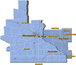 We are located in Dakota County.