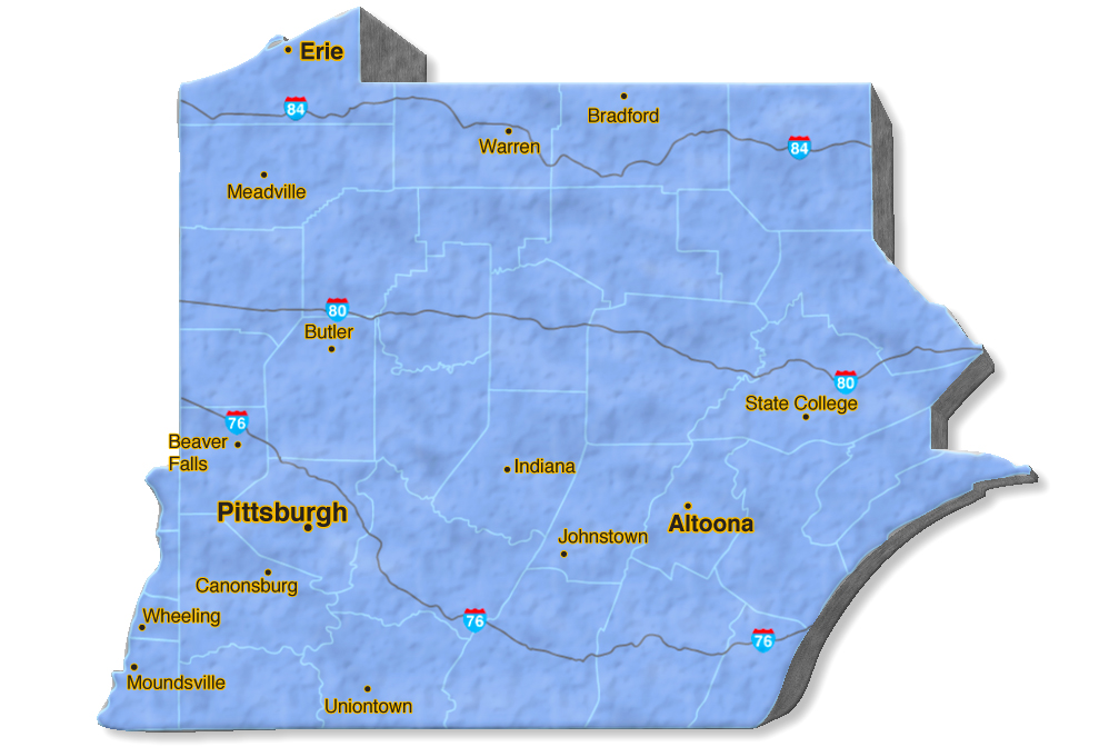 We are located in Cambria County.