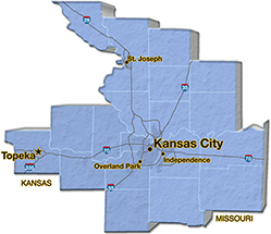 We are located in Jackson County. - E & K of Kansas City, Inc.