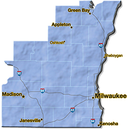 We are located in Sheboygan County.