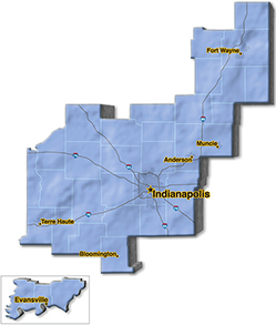 We are located in Whitley County. - Niblock Excavating & Asphalt