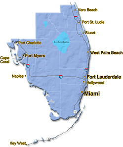 We are located in Palm Beach County. - Coast to Coast Forming, Inc.