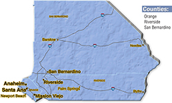 We are located in San Bernardino County.