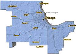 We are located in Cook County. - Oakridge Electric
