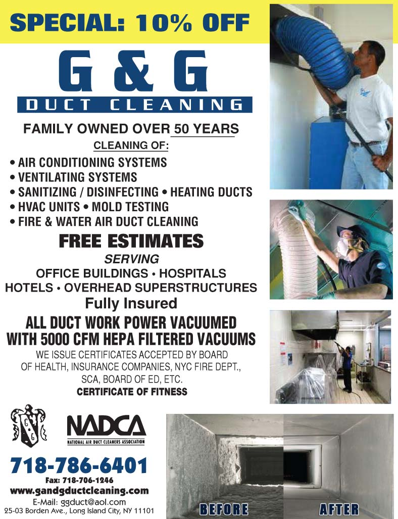 Commercial Air Duct Cleaning In New York City Long Island