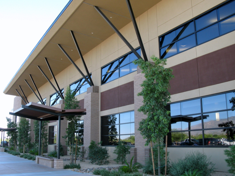Completed Facility with Steel Canopies & J.B. Steel - Completed Facility with Steel Canopies Image | ProView