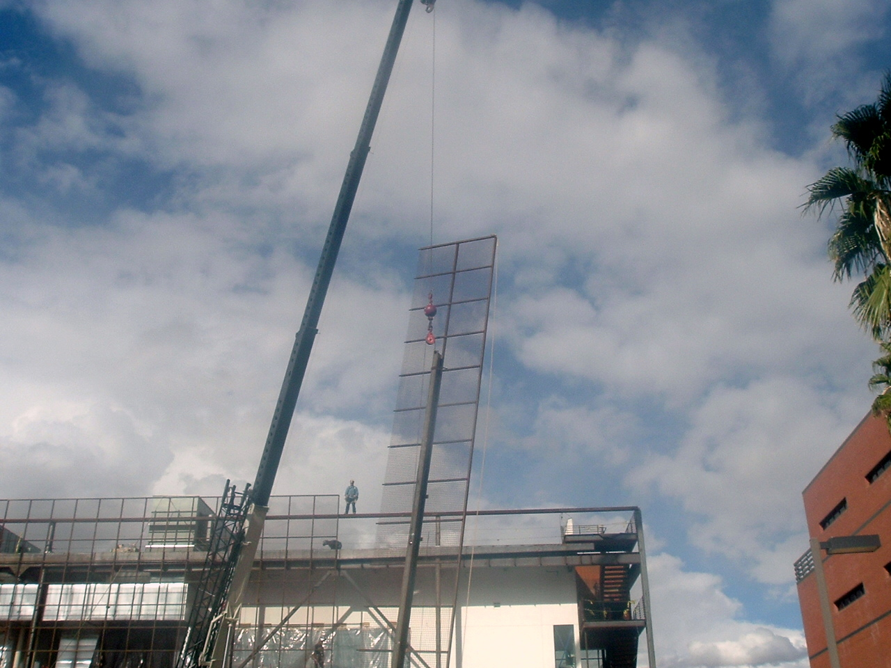 J.B. Steel - Erection of Large Wire Mesh Panels Image | ProView