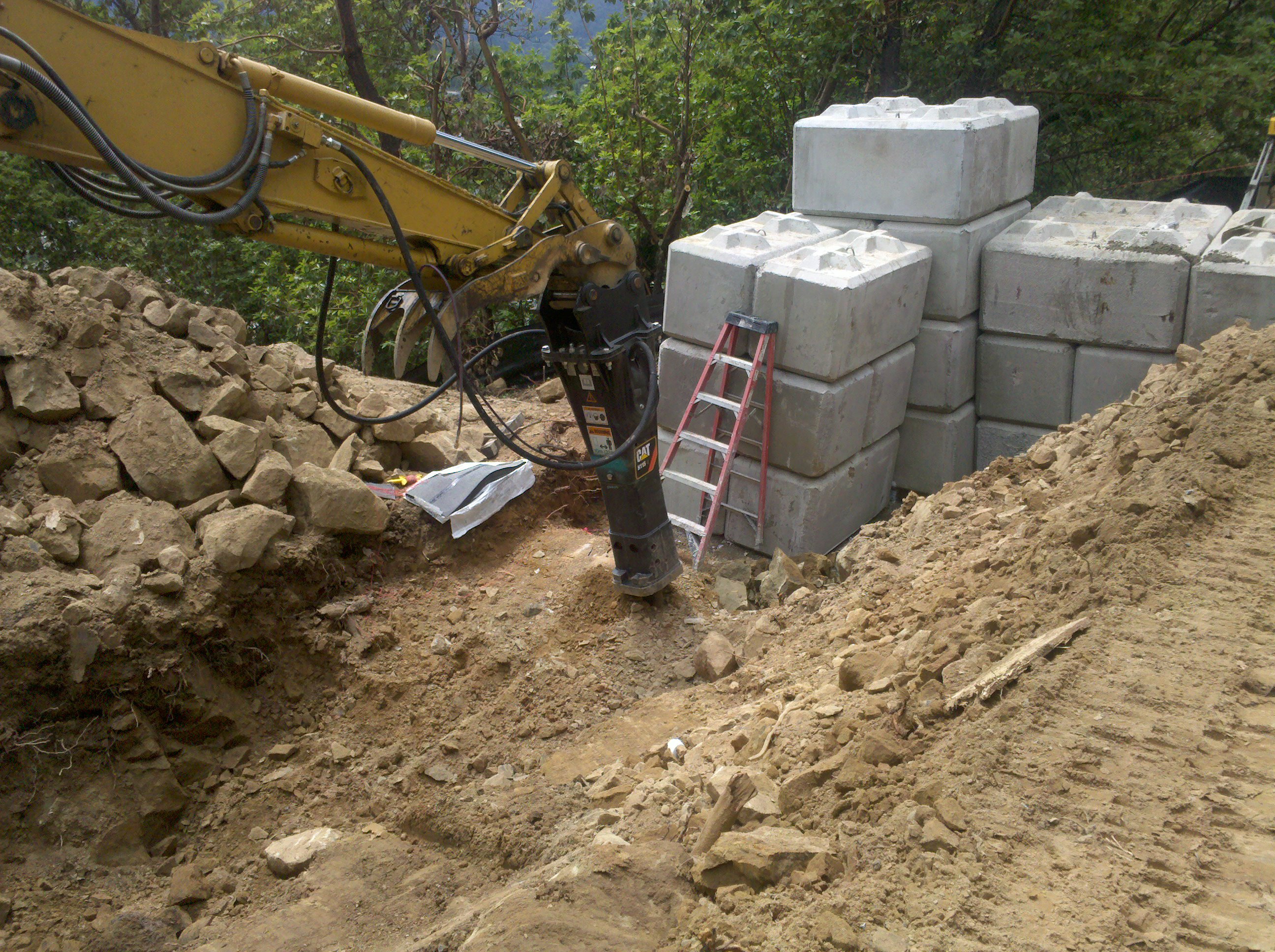 Roseburg, OR - Cell Site Pad Retaining Wall