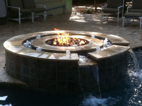 Capo Fireside Fire Pit With Water