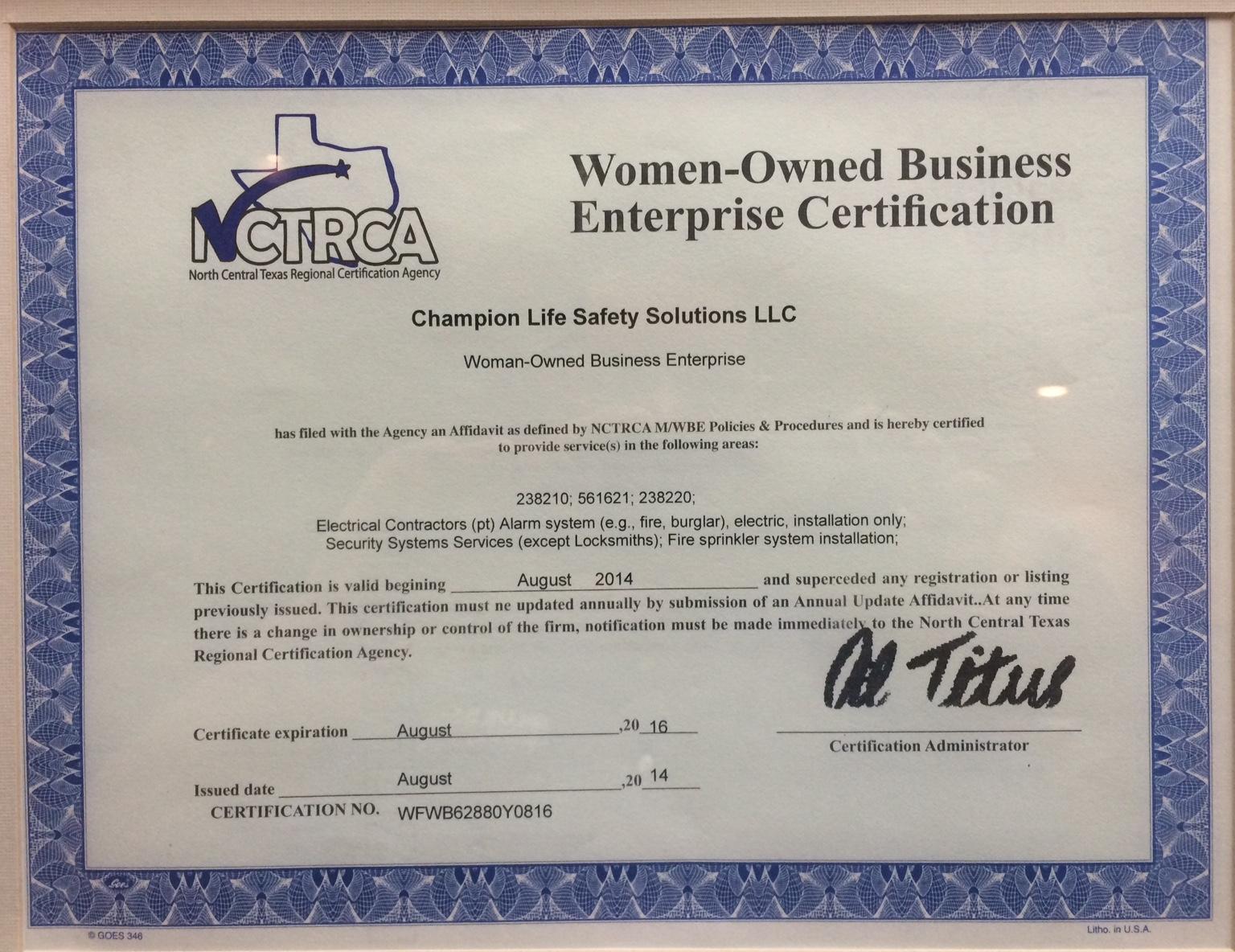 Champion Fire & Security - Licenses, Insurance, Bonding ...