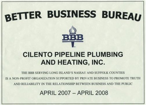 Cilento Pipeline Plumbing & Heating, Inc. - Licenses, Insurance ...