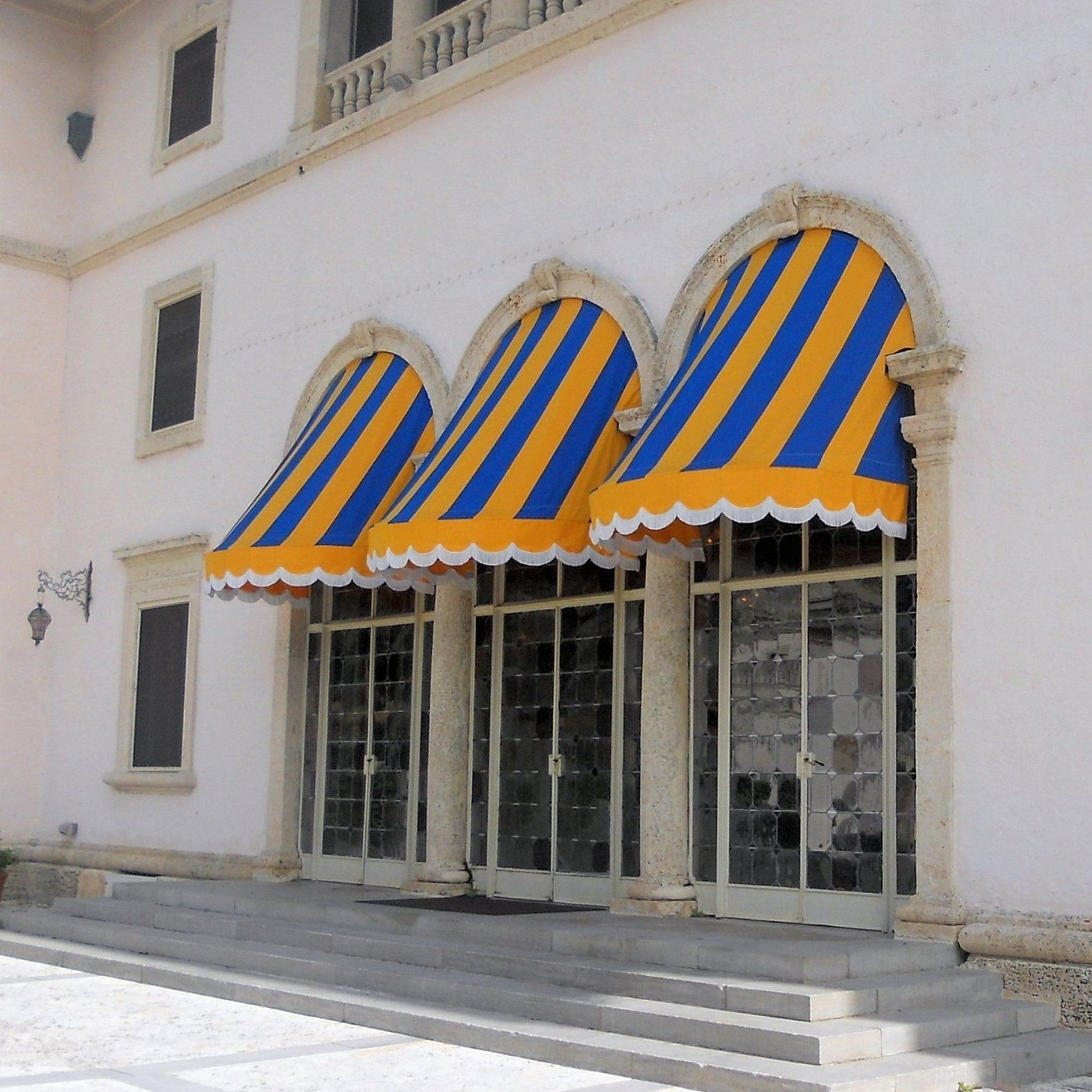 blue and retractable awnings wilmington awning shutter