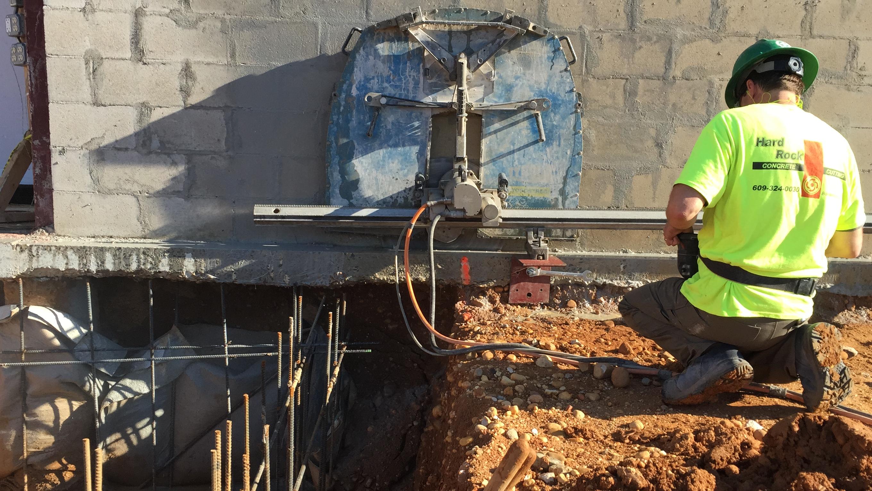 Wall Sawing At Cinnaminson Hs