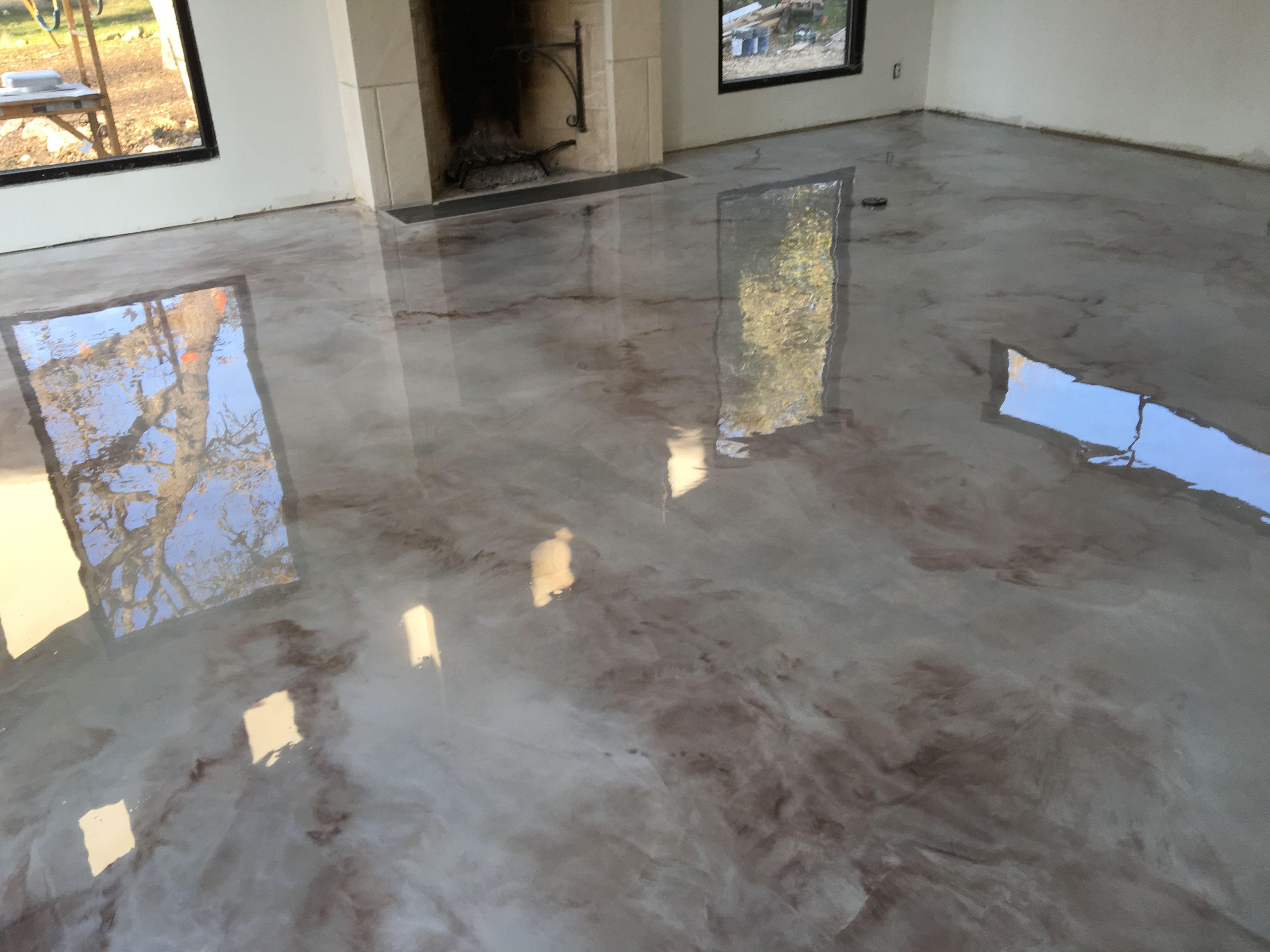 Epoxy Metallics Marble Floors Image