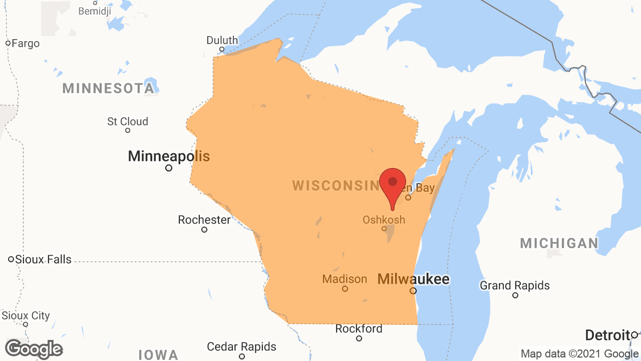 Service Area and Locations Map for OneWisconsin Financial Group