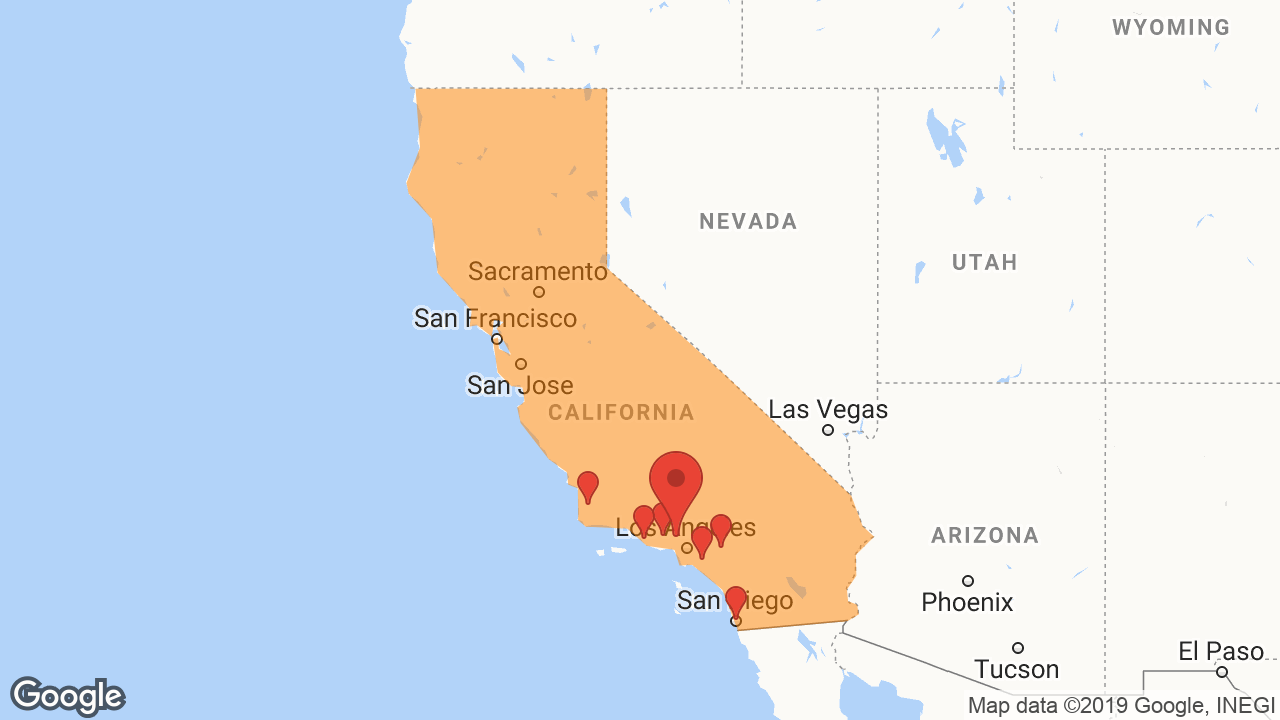 Service Area and Locations Map for Ecola Termite & Pest Control Services