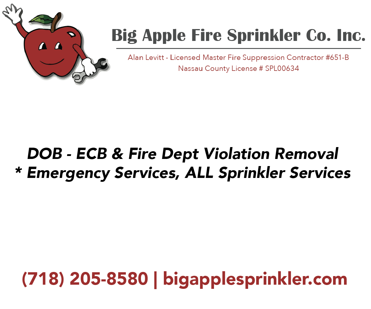 Big Apple Fire Sprinkler Company Inc.
