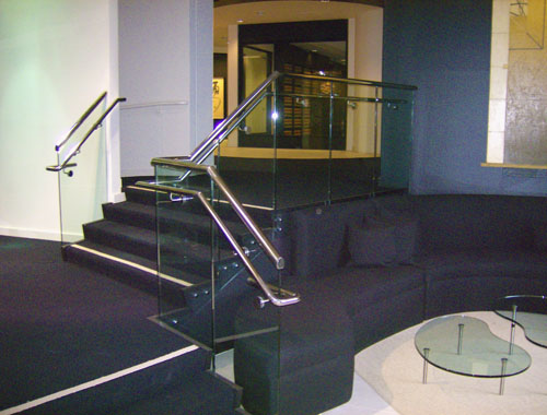Stainless Handrail & Glass guard