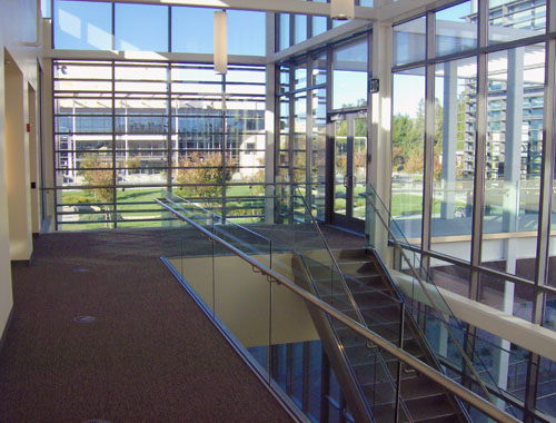 Stainless Handrail & Glass stairway guards