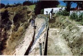 Slope Retaining Devices